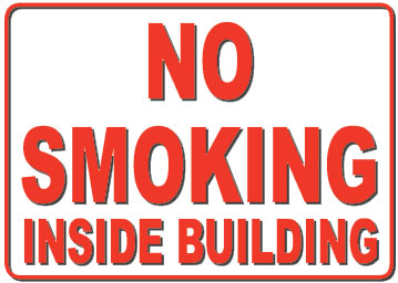 no smoking inside bldg 1