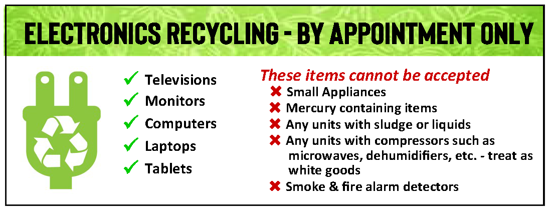 Sanitation electronics recycling