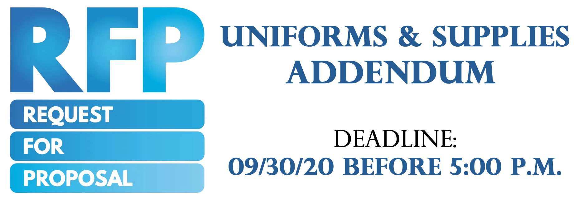 RFP ADDENDUM image for uniforms and supplies