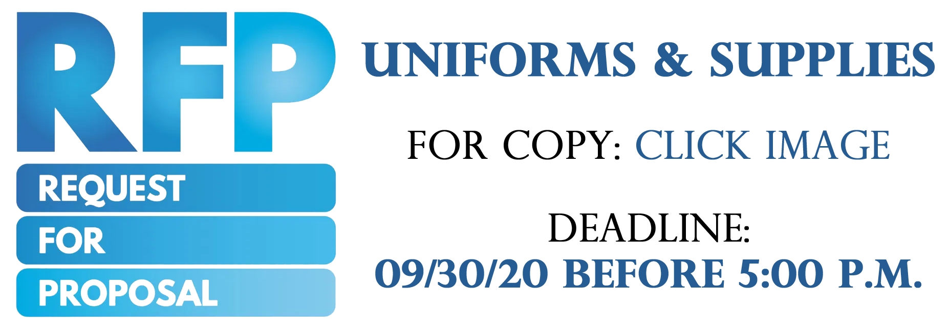 RFP image for uniforms and supplies