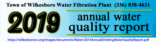 2019 water quality report banner with weblink