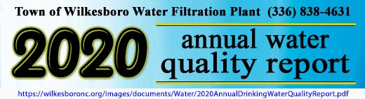 2020 water quality report banner with weblink