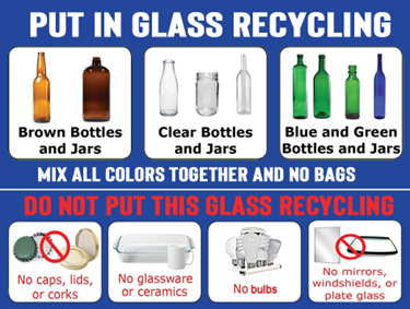 what can go into glass recycling?